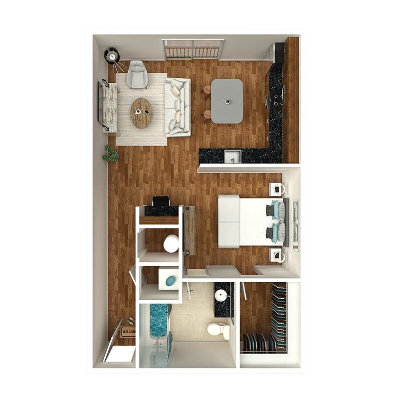 1 bedroom apartment nashville