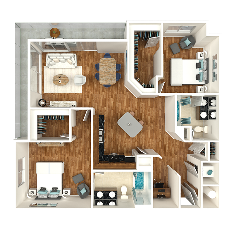 two bedroom apartments gulch